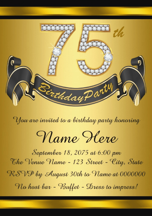 the best 75th birthday invitations and