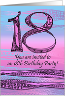elegant 18th birthday invitation card