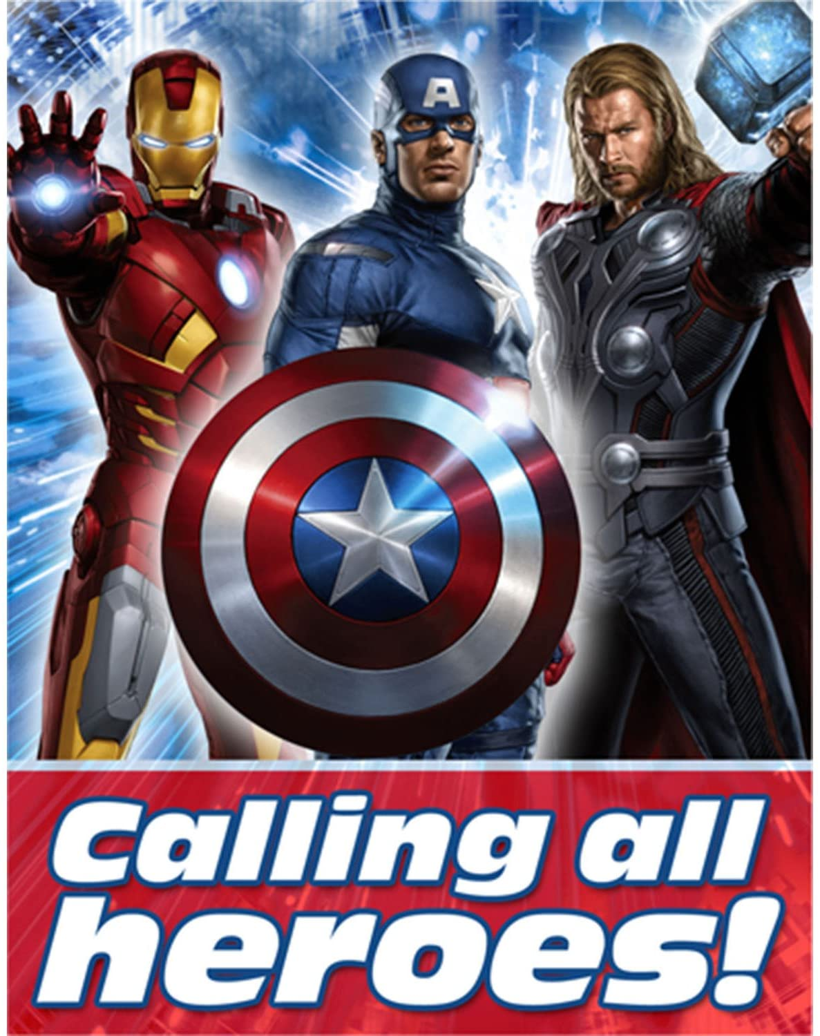the avengers party invitations 8 ct