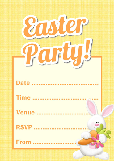 free printable easter bunny party