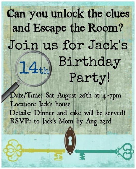 throw an escape room birthday party