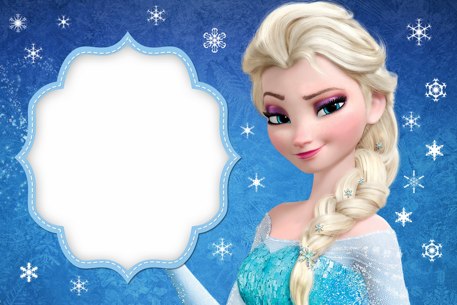 frozen free printable cards or party